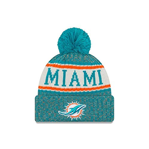 New Era ONF18 Sport Knit Bommelmütze Miami Dolphins Türkis, Size:ONE Size (Miami Dolphins Farben)