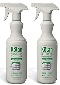 Kolan Organic Eco-Friendly No Streak Glass Cleaner 700 ML (Suitable for all Surfaces including ppliances and Furniture) - 2 Packs Combo