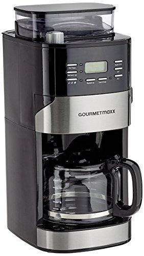 GOURMETmaxx 01897 Kaffeemaschine mit Thermoskanne   Mit Mahlwerk & Filter   Digitales Bedienfeld mit LED-Display   Schwarz