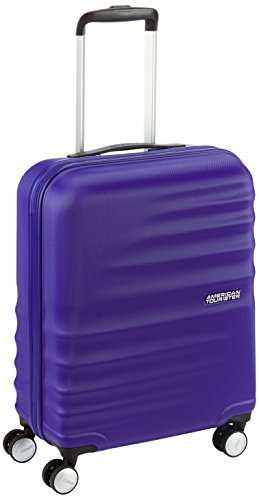 American Tourister WaveBreaker Spinner 55/20 - Equipaje de Mano, 36 litros, Color Azul (Nautical Blue)