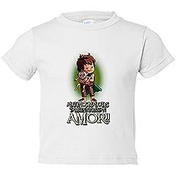 T-shirt enfant Le Seigneur des Anneaux Frodo et Gollum certains malotes également ont besoin d'amour Saint Valentin 7-8 años blanc