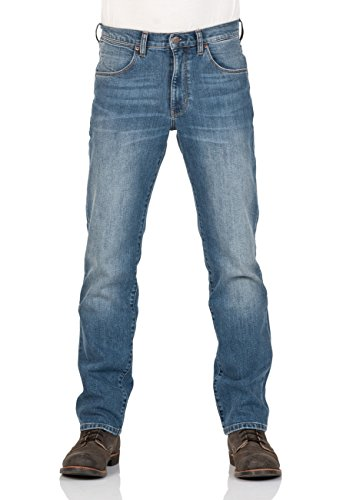 Wrangler Herren Jeans Arizona Regular Fit - Blau - Blue Rocks - Blue Dimension - Wild Wash Tint - Edgy Blue, Größe:W 30 L 32, Farbe:Edgy Blue (W12OBR77K)