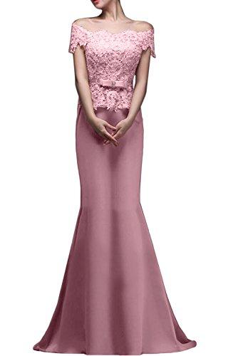 Gorgeous Bride Fashion Meerjungfrau Lang Satin Tüll Spitze Schleppe Abendkleider Lang Cocktailkleider Ballkleider Blau