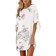 Vestidos Mujer Casual,Modaworld ❤ Mini Vestido Casual Floral Estampado para Mujer Vestidos de