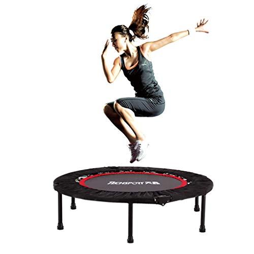Trampolini elastici per interni trampolino per adulti da palestra per adulti trampolino da salto pieghevole per adulti letto per perdere peso trampolino per adulti (color : black, size : 40 inch)