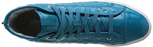 Geox D New Club A, Baskets mode femme Turquoise