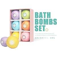 Set Regalo bombe da bagno, 6Ultra Lush Olio Essenziale bagno bomba da bagno Fizzies usare con vasca da bagno corpo bolle e Spa a mano perline per Idratante Pelle Secca (60g/2oz & # xFF09;