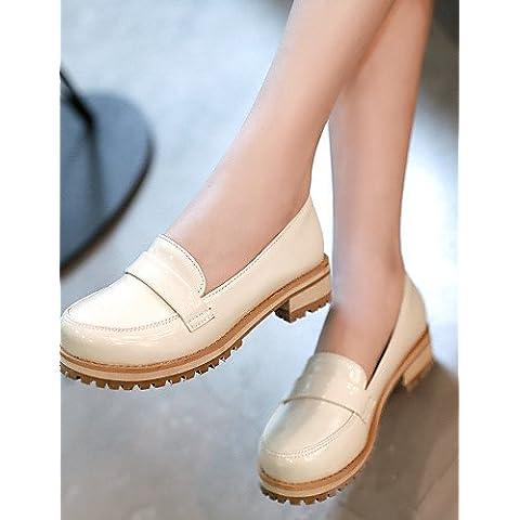 Las mujeres zapatos de tacón bajo Ronda Toe mocasines Office & Carrera/vestimenta casual/Negro/Verde/Morado/beige, verde,US8.5 / UE39 / UK6.5 /