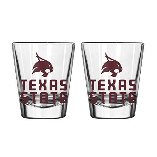 ncaa-texas-state-bobcats-game-day-shot-glass-2-ounce-2-pack