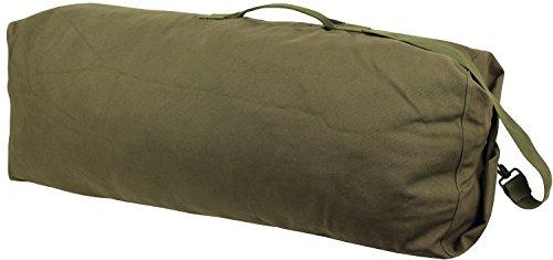 US Seesack aus 100% Canvas Baumwolle - verschiedene Größen und Farben Oliv mit Seesackverschluss