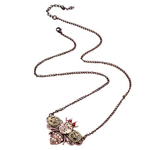 Lankater Steampunk Schmetterling Biene Anhänger In Form Von Mit Mechanischem Getriebe Dekoration Unisexweinlese-Insekt-Halskette Sexy Claviclekette