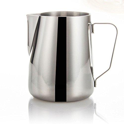 VORCOOL Milchkännchen Aufschäumkännchen Edelstahl 350ml (Silber)