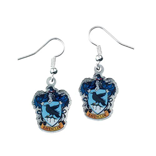 Harry Potter Ravenclaw Crest Silver Plated Earrings
