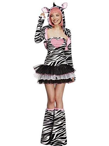 Kostüm Zebra Kapuzen Sexy - Smiffys Sexy Zebra Tutu Kostüm für Erwachsene M