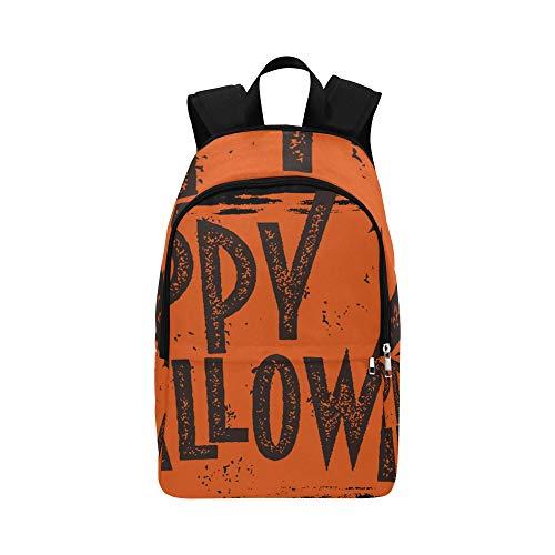 Happy Halloween Text Banner Casual Daypack Reisetasche College School Rucksack für Männer und Frauen