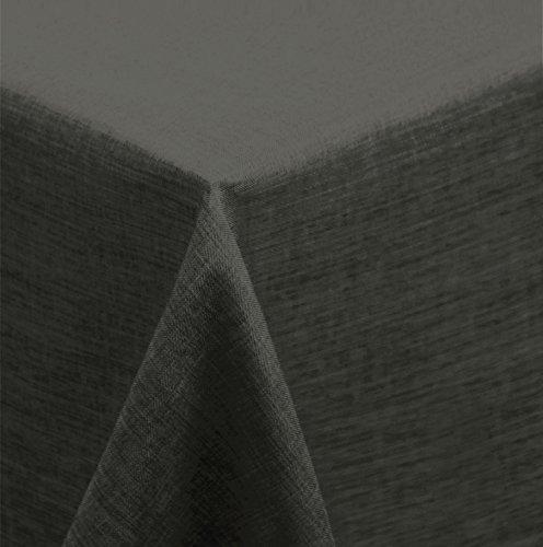 ke 90x90 cm eckig Struktur Leinen-Optik beschichtet Wasser und Schmutz abweisend Lotuseffekt (anthrazit) ()