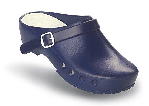 Schürr OP-Schuhe Chiroclogs Classic mit und ohne Fersenriemen Blau mit Fersenriemen