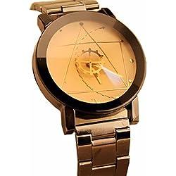 Familizo Stainless Steel Women Quartz Analog Compass Needle Wrist Watch White