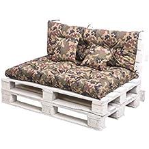 KRUGER Euro - Cojines de Paleta para sillas, Columpios, Muebles de jardín, 60x40cm