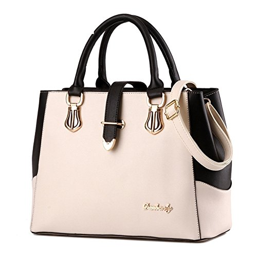 borsa a tracolla Ms./Messenger Bag/In bianco e nero cuciture borsa-E A