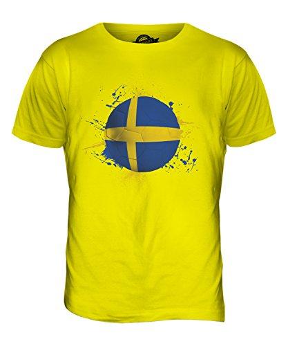 CandyMix Schweden Fußball Herren T Shirt Zitronengelb