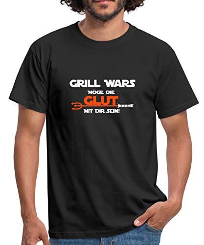 Grill Wars Glut Mit Dir Sein Witziger Spruch Männer T-Shirt, XXL, - Tshirt Grill Wars