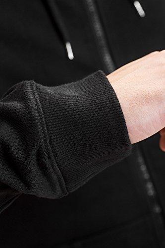 REELL Men Sweatwear Rib Zip Hoody Artikel-Nr.1305-008 - 03-006 Black