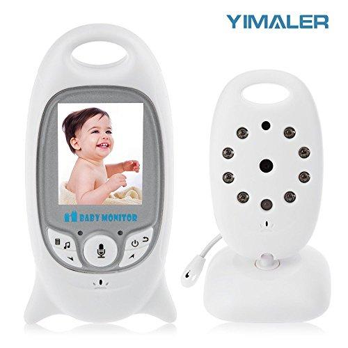 """Babyphone mit Kamera ohne Strahlung– Nachtsicht Gegensprechenfunktion Längere Reichweite und Temperaturüberwachung, Video Baby Monitor Überwachung mit 2.0"""" LCD"""
