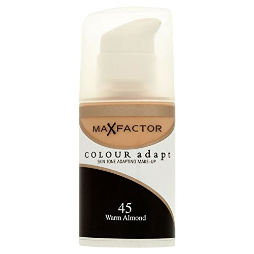 3 x Max Factor, Colour Adapt Foundation, 34ml, 45 Warm Almond, New & Sealed