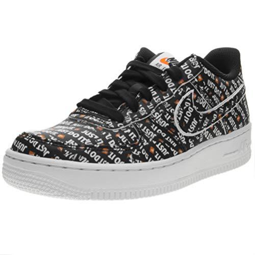 Nike air force 1 jdi prm (gs), scarpe da fitness bambino, (black/total orange/white 001), 36 eu