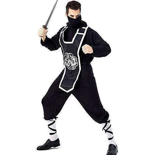 Kostüm Hunde Ninja - Herren Halloween Kostüm Erwachsene Unisex Karneval Fasching Dongpu Ninja Spion Uniform