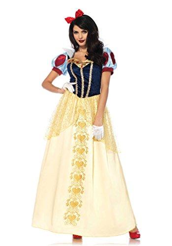 chneewittchen-Kostüm Damen Luxus Märchen Kostüm mit Haarschleife Karneval Damen-Kostüm Größe 42/44 ()