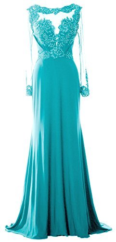 MACloth - Robe - Trapèze - Manches Longues - Femme Turquoise - Turquoise