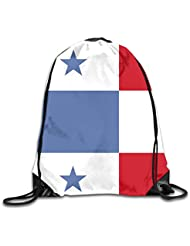 sd4r5y3hg Soccer Panama Flag Men & Women Sport Gym Sack Dancing Bag Drawstring Backpack For Beach
