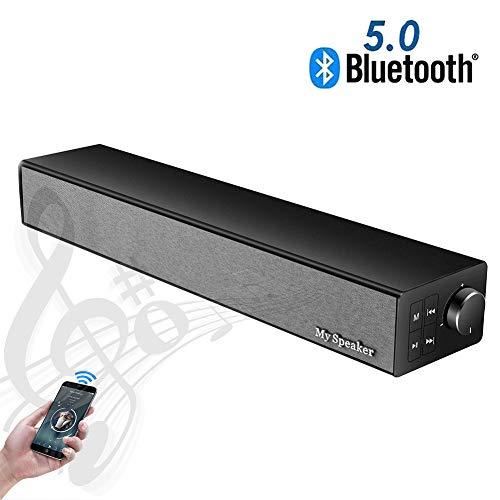 Speaker-EJOYDUTY Wireless BT 5.0 Stereo Sound Bar, 2019 Aktualisierte Version, 20W tragbare Musik-Player-Lautsprecher, für TV/PC/Handy/Tablets