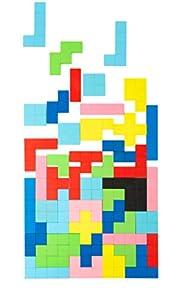 small foot company- Small Foot 11403 Puzzle de Madera Tetris, 114 Piezas, Juego Educativo con Patrones geométricos Generales Juguetes