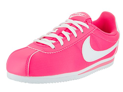 Nike Cortez Nylon (Gs), Chaussures de Running Entrainement Fille Hyper Pink/White