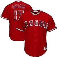 YQSB Camiseta Deportiva Baseball Jersey Major League Baseball Los Angeles Angels # 17 Ohtani Baseball Wear,Red,Men-M