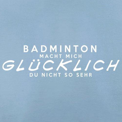 Badminton macht mich glücklich - Herren T-Shirt - 13 Farben Himmelblau