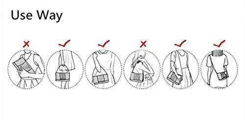 SUNROLAN Damen Umhängetasche Leder Handtasche Crosbody Damentasche Business-Stil 28x13x18cm (L xB x H) Schwarz Weinrot