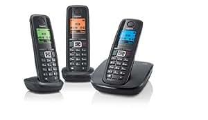 Gigaset Siemens A510 Trio Téléphone sans fil DECT/GAP 3 combinés  Noir