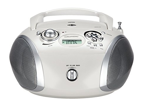 gbare Radio Boombox weiß/silber ()
