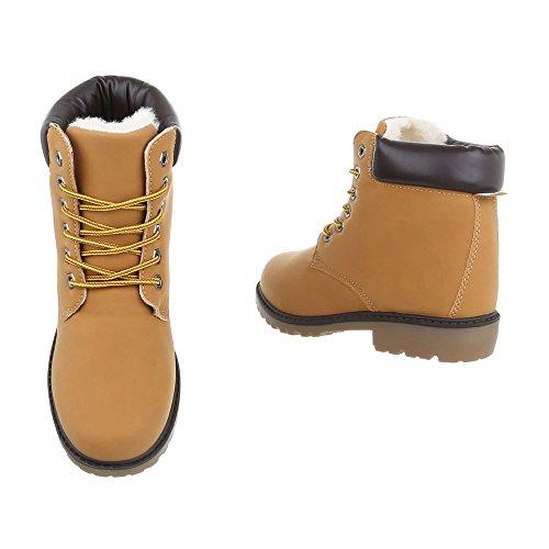 Chaussures Pour Femmes Bottines À Talon Carré Bottines Avec Dentelle Ital-design Braun Cfc-06