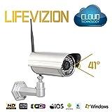 Caméra IP d`'extérieur HD 720p Cloud jour/nuit (Ethernet / Wi-Fi N)
