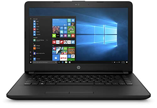 HP 14q-BU007TU 2017 14-inch Lightweight, Laptop (Celeron N3060/4GB/500GB/Windows 10/Integrated Graphics), Jet Black