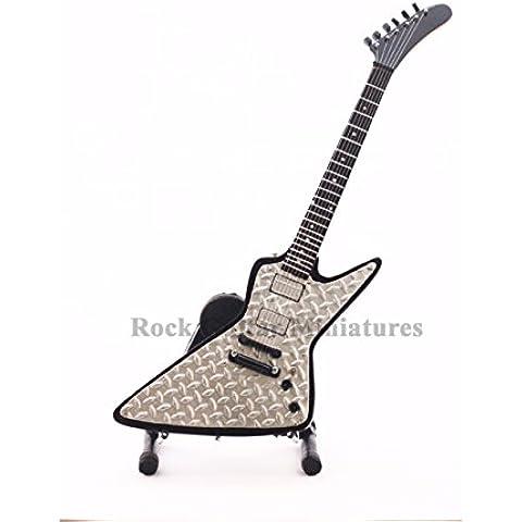 RGM96 James Hetfield Metallica Diamond Plate Explorer chitarre in miniatura - Diamond Plate Chitarra