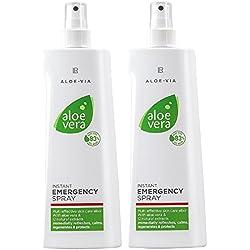 LR Aloe Vera urgence d'urgence verser la pulvérisation peau (2x 400 ml)