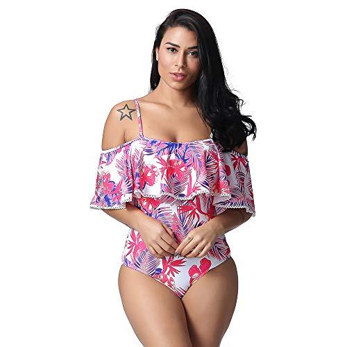 ZXLIFE@@ Damen Sexy Bademode, Badeanzug Badeanzug Badeanzug Bikini-Sets für Dating Dance Performance Party Hochzeit Arbeit Urlaub,XXL