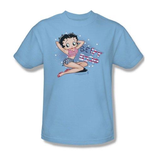 Betty Boop - All American Girl Erwachsene T-Shirt in Hellblau, XXX-Large, Light Blue (T-shirt All American Erwachsenen)