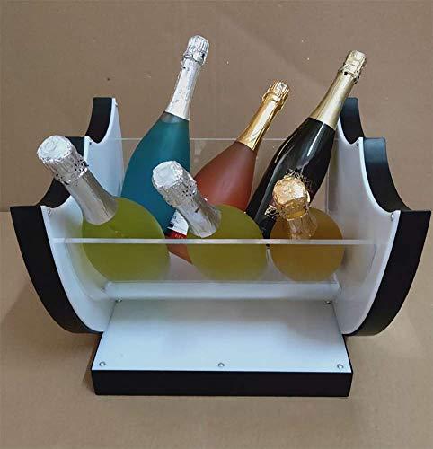LED Eiskübel Groß, LED Kühler Eimer Kreative Europäische Große Kapazität Weinkühler LED Wasserdicht Aufgeladen Lebensmittelqualität Eimer Kunststoff Champagner Wein Getränke Bier Eimer, Für Party,